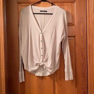 button-down twist tie abercrombie sweater